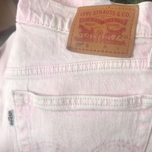 Levi's Jeans - Levi's 501 pink skinny jeans high waist